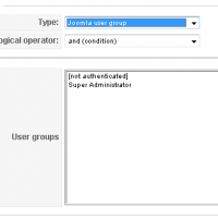 Context condition - logged user's group
